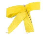 Yellow bow Stock Photos