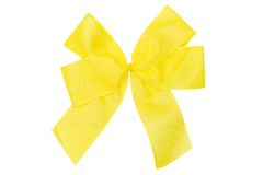 Yellow Bow w/ Path Stock Photos