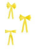Yellow Bows 300 dpi Stock Images