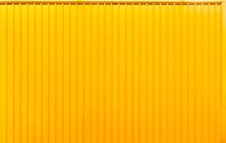 Yellow box container steel striped line texture background. royalty free stock photography