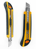 Yellow box cutter Stock Images