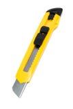 Yellow box cutter knife Stock Image