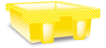 Yellow box Royalty Free Stock Photo
