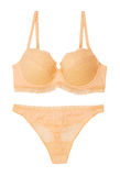 Yellow bra and pantie Stock Images
