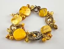 Yellow bracelet Royalty Free Stock Images