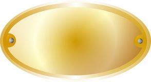 Yellow brass metal  border Royalty Free Stock Image
