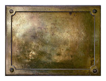 Free Yellow Brass Metal Plate Border Royalty Free Stock Images - 5560229