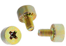 Yellow brass screw Stock Image