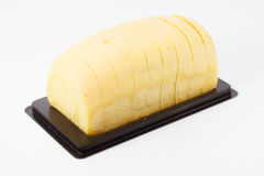 Yellow bread. Isolated yellow bread that made from pumpkin Royalty Free Stock Photos