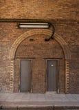 Yellow brick arches Stock Image