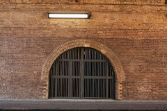 Yellow brick arches 2 royalty free stock image