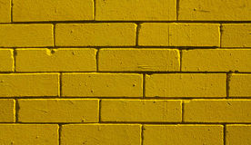 Yellow brick background, closeup Royalty Free Stock Image
