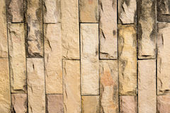 Yellow brick background. Which old style and retro color Royalty Free Stock Image