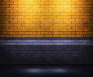 Yellow Brick Interior Royalty Free Stock Image