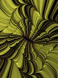 Yellow Brick Mind. Fantasy themed fractals background illustration Stock Photo