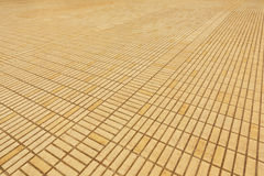 Yellow brick pavement Stock Photography