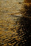 Yellow brick road background texture Stock Photo