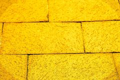 Yellow brick road. Yellow bricks yellow brick roads Royalty Free Stock Photography