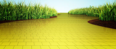 Yellow brick road. A yellow brick road leading into the distance royalty free illustration
