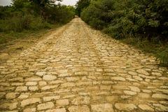 Yellow brick road. A rural way like a fantasy road of yellow bricks royalty free stock photography