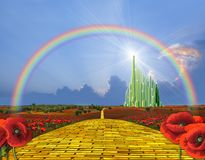 Yellow Brick Road To Oz Stock Images