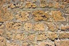 Yellow brick wall. The obsolete yellow brick wall Royalty Free Stock Image