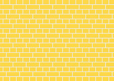 Yellow brick wall Royalty Free Stock Photos