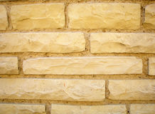 Yellow brick wall background. Royalty Free Stock Photo