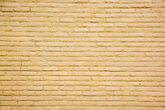 Yellow Brick Wall Background Royalty Free Stock Photography