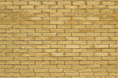 Yellow brick wall  background Royalty Free Stock Image