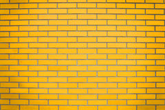 Yellow brick wall Royalty Free Stock Images