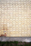 Yellow brick wall background Royalty Free Stock Photos