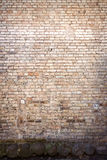 Yellow brick wall background Stock Photography