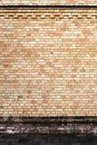 Yellow brick wall background Stock Photos
