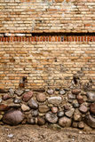 Yellow brick wall background Royalty Free Stock Images