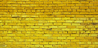 Yellow brick wall. Background, brick texture, pattern Royalty Free Stock Photos