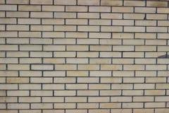 Yellow brick wall. Wall fence ornamental yellow brick Royalty Free Stock Images