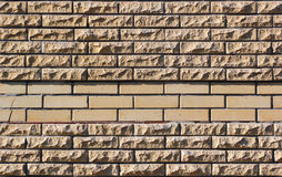 Yellow brick wall fragment Royalty Free Stock Photography