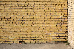 Yellow brick wall Royalty Free Stock Photo