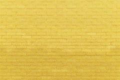Yellow Brick Wall. Yellow Paint Brick Wall Background Stock Photography