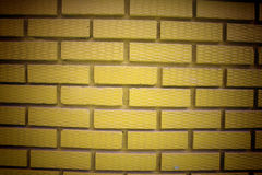 Yellow brick wall pattern Royalty Free Stock Photo