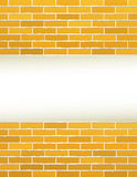 Yellow brick wall with place for text Royalty Free Stock Images