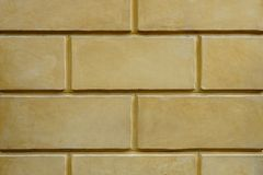 Yellow brick wall in the Roman era. For background Royalty Free Stock Photos