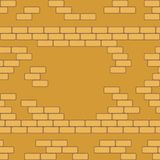 Yellow brick wall seamless Vector illustration background - texture pattern for continuous replicate. Stock Photo
