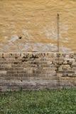 Yellow brick wall Stock Photo