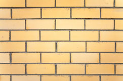 Yellow brick wall texture Stock Image