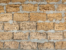Yellow brick wall texture Royalty Free Stock Images
