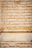 Yellow brick wall texture Stock Photography