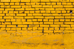 Yellow Brick Wall Stock Photography