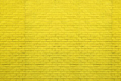 Yellow bricks pattern on wall for abstract background. Royalty Free Stock Photo